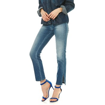 Sandy-Ankle - Jean recto - denim azul