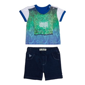 Guess Kids - Ensemble t-shirt et short - bleu