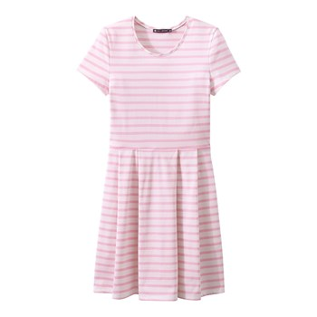 Robe manches courte - rose