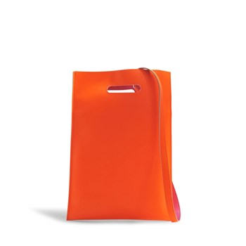 Sac plastique porté main - orange