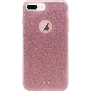 Coque slim pailletée étincelante compatible iPhone 8+ - rose