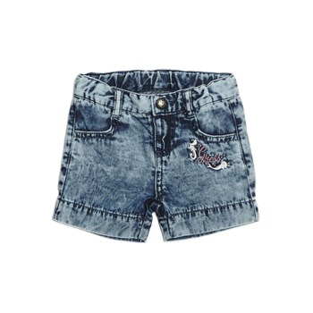 Guess Kids - Short en jean détail logo - denim bleu