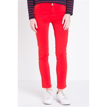 Pantalon coupe cigarette - rouge