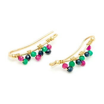 YAY You Are Young - Frida - Boucles d'oreilles cuff - multicolore