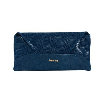 Kate Lee - XL - Pochette en cuir - bleu