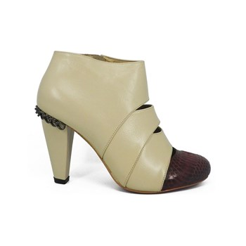 Fay - Bottines en cuir - beige