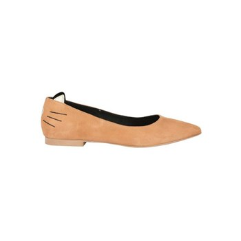 Ballerines en cuir - marron