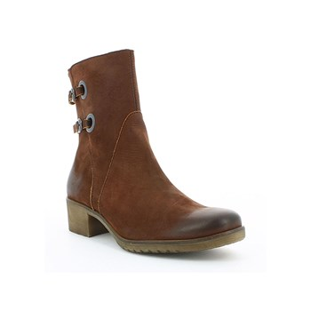 Misshight - Boots en cuir - marron