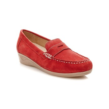 Damart - Mocassins en cuir - rouge