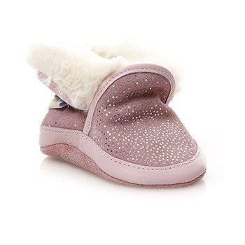 Robeez - Cosy Boot - Chaussons en cuir - rose clair