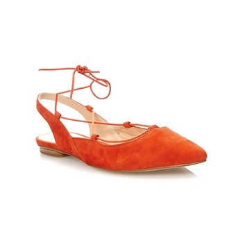 Mellow Yellow - Brunella - Ballerines en cuir suédé - orange