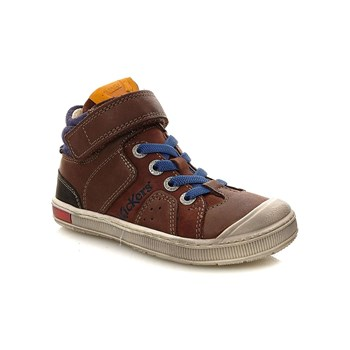 Kickers - Iguane - High Sneakers aus Leder - braun