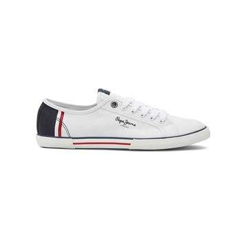 Pepe Jeans Footwear - ABERMAN - Baskets Mode - blanc