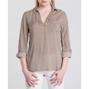 CHEMISE MANCHES LONGUES - BEIGE Bonobo Jeans