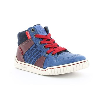 Kickers - Wazabi - High Sneakers aus Leder - blau