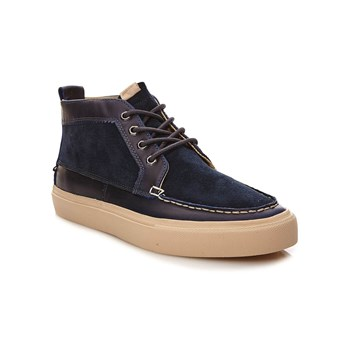 Roger - Sneakers alte in pelle - blu scuro