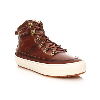 Shipton Trek - Sneakers alte in pelle - marrone scuro