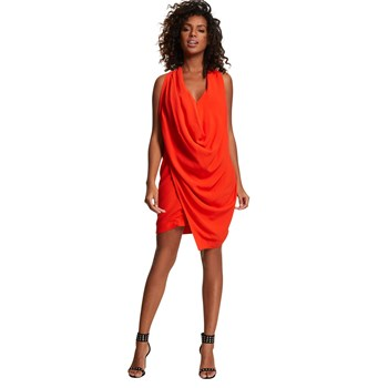 Robe bénitier unie - orange