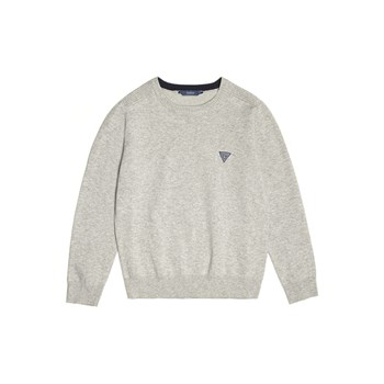 Guess Kids - Pull logo - gris clair