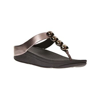 FitFlop - Rola Pewter - Tongs en cuir - etain