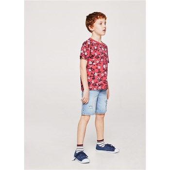 Mango Kids - Felix the cat - T-shirt manches courtes - rouge
