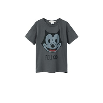 Mango Kids - Felix the cat - T-shirt manches courtes - anthracite