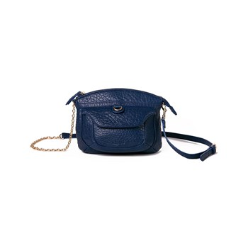 Kate Lee - Maeva - Ledertasche mit Tragegurt - marineblau