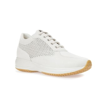 Happy - Sneakers in pelle - bianco