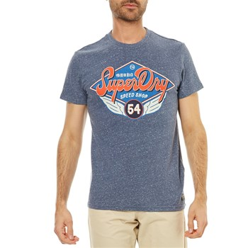 Superdry - Real Trademark - T-shirt manches courtes - bleu marine