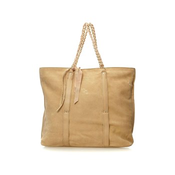 Mila Louise - Nives - Shopping bag in pelle scamosciata - sabbia