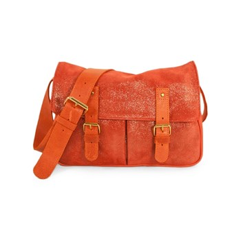 C Oui - Vincennes 2 - C-Oui / Sac besace postier musette taille moyenne made in France en cuir - irisé corail
