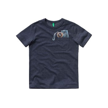 Benetton - T-shirt manches courtes - anthracite
