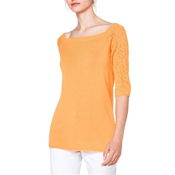 Benetton - Pull manches courtes - orange