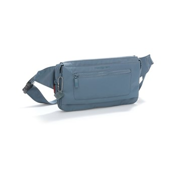 Hedgren - Inter city - Banane pochette mixte en nylon - bleu clair