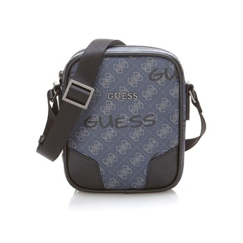 Guess - City - Mini sacoche à logo - bleu