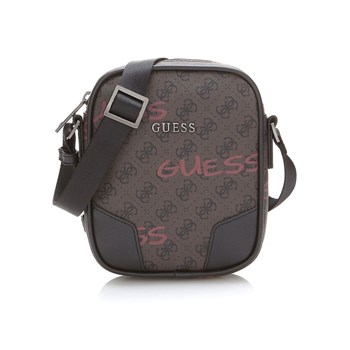 Guess - City - Mini sacoche à logo - marron