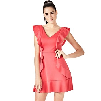 Guess - Robe à volants frontaux - rose