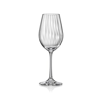 Aulica - Waterfall - Set de 6 verres à eau sur pied - transparent