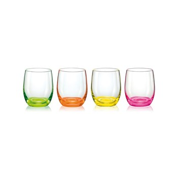 Aulica - Neon - Set de 4 chopes basses - multicolore