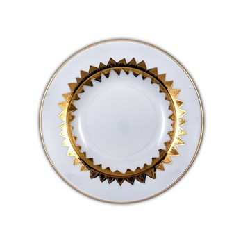 Site Corot - NEW ISIDORE - Assiette creuse Porcelaine de Limoges - OR