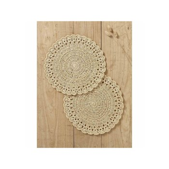 Cyrillus - Lot de 2 sets de table - naturel