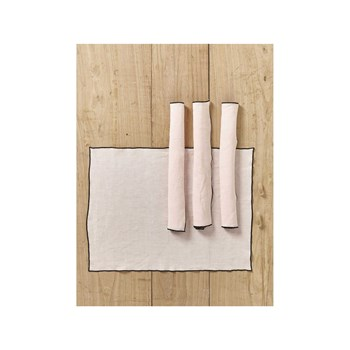Cyrillus - Lot de 4 sets de table en lin - rose