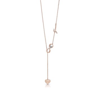 Endless Love - Collier en plaqué en or rose orné de cristaux de Swarovski® - rose