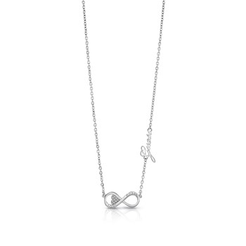 Endless Love - Collier orné de cristaux de Swarovski®. - argent