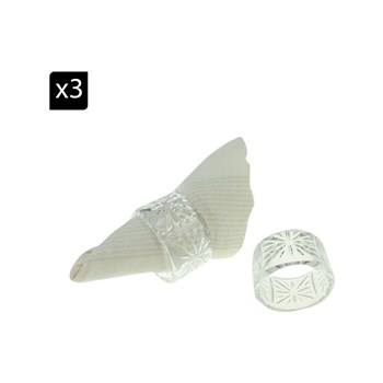 Aulica - Taille - Set de 6 ronds de serviette - transparent