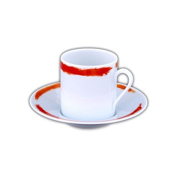 Site Corot - Artwork - Tasse à café et soucoupe - orange