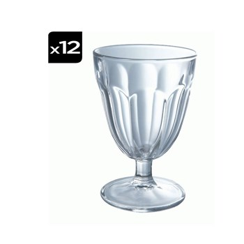 Luminarc - Roman - Lot de 12 verres à pied 14 cl - transparent