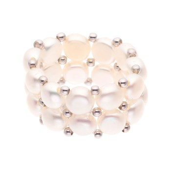 House of Pearls - Bague en perles - blanc