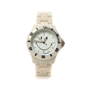 Smiley - Reloj mixto - blanco