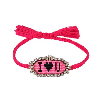 Shourouk - I Love You - Bracelet cordon - rose